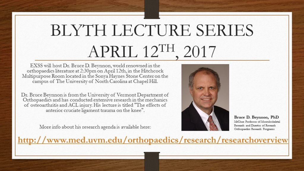 2017 BLYTH LECTURE SERIES