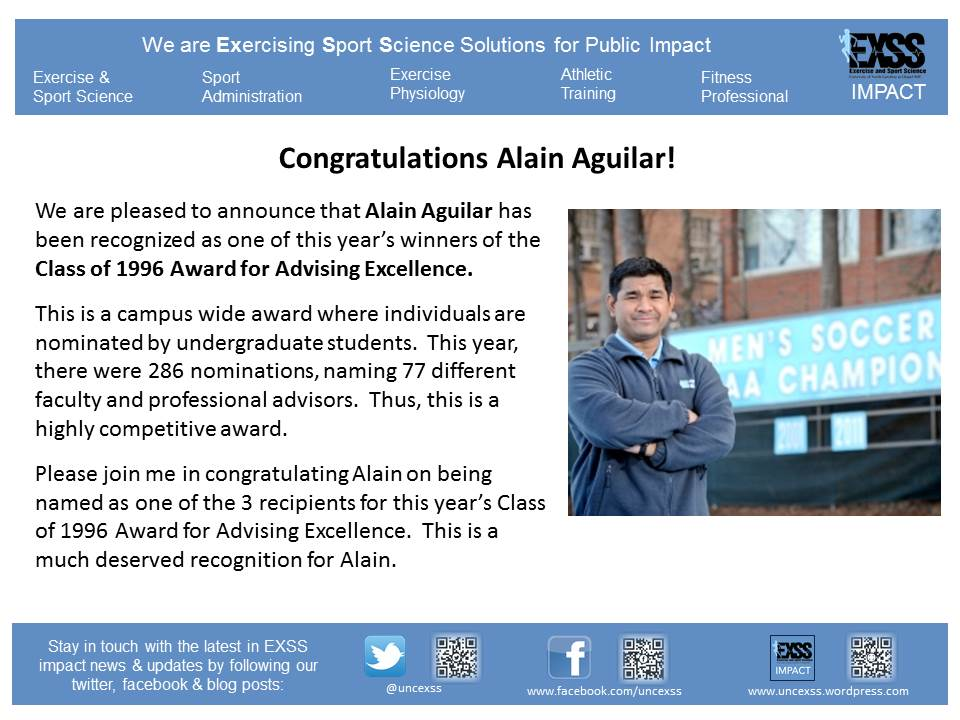 2014 Advising Award - Alain Aguilar