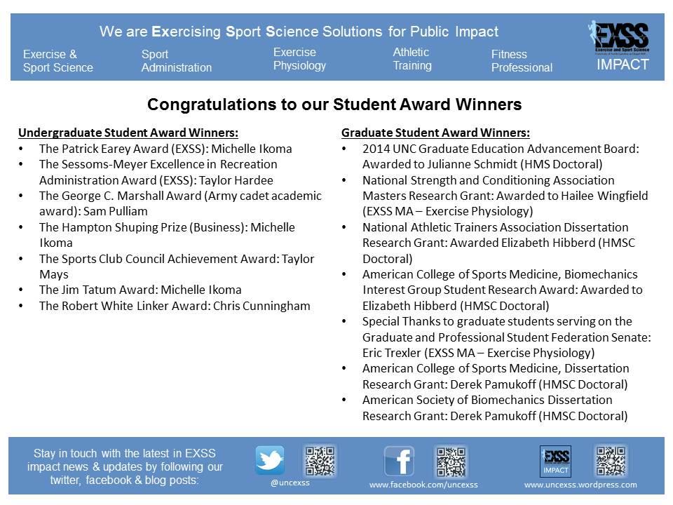 2014 Student Award Winners
