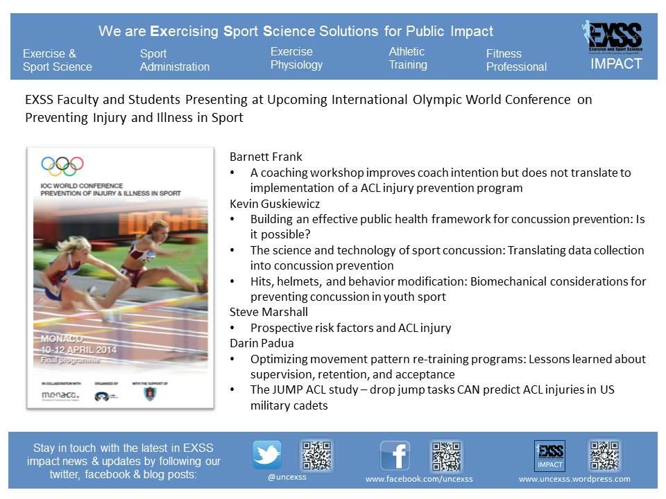 EXSS Presos at IOC Conferences 4 3 14