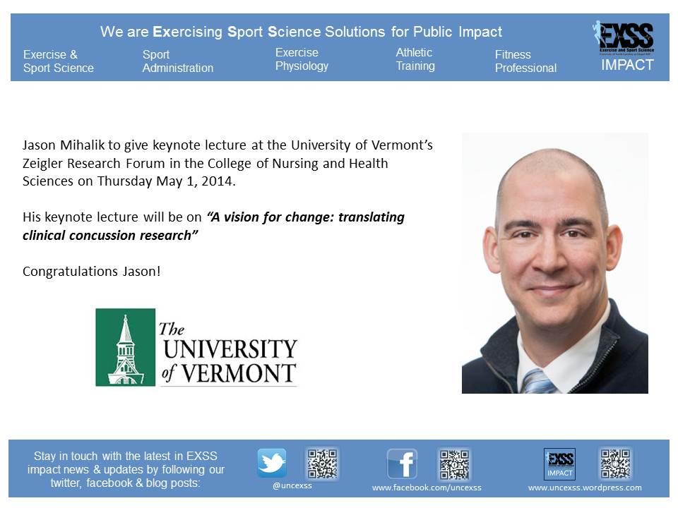 Jason Mihalik - UVM Lecture 2014