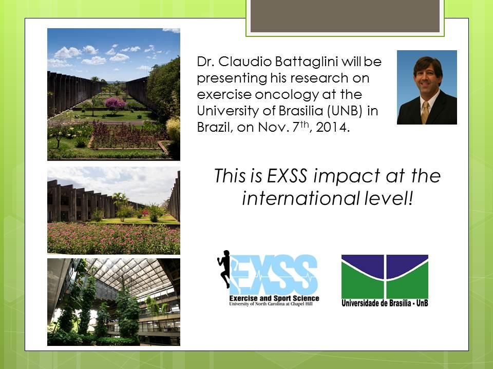 Claudio in Brazil EXSS Impact 2014
