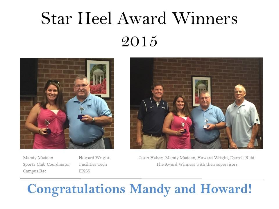 Star Heel Award Winners2015